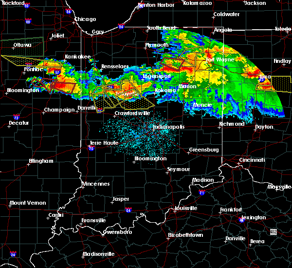 Radar Image for Severe Thunderstorms near Otterbein, IN at 6/23/2016 12:34 AM EDT