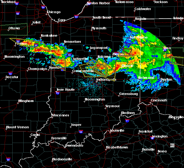 Radar Image for Severe Thunderstorms near Otterbein, IN at 6/23/2016 1:32 AM EDT