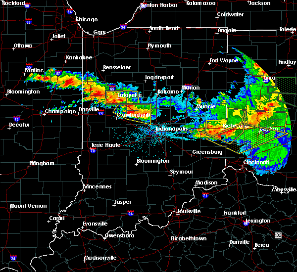 Radar Image for Severe Thunderstorms near Otterbein, IN at 6/23/2016 2:34 AM EDT