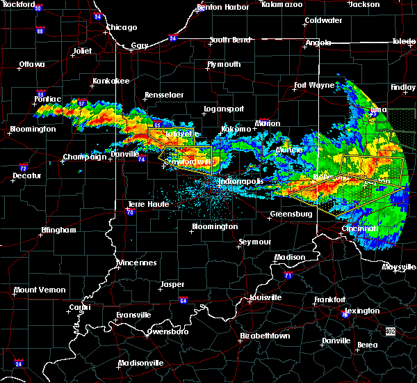 Radar Image for Severe Thunderstorms near Otterbein, IN at 6/23/2016 2:39 AM EDT