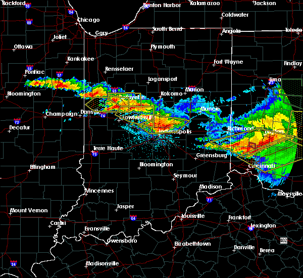 Radar Image for Severe Thunderstorms near Otterbein, IN at 6/23/2016 3:04 AM EDT