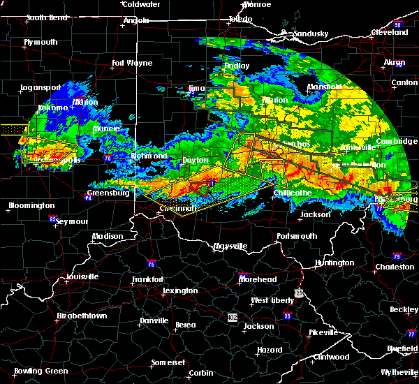 Radar Image for Severe Thunderstorms near New Vienna, OH at 6/23/2016 3:19 AM EDT