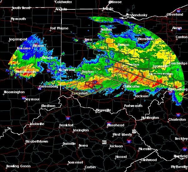 Radar Image for Severe Thunderstorms near Wilmington, OH at 6/23/2016 3:26 AM EDT
