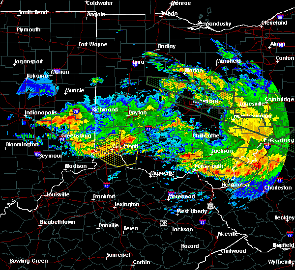 Radar Image for Severe Thunderstorms near Cincinnati, OH at 6/23/2016 4:57 AM EDT
