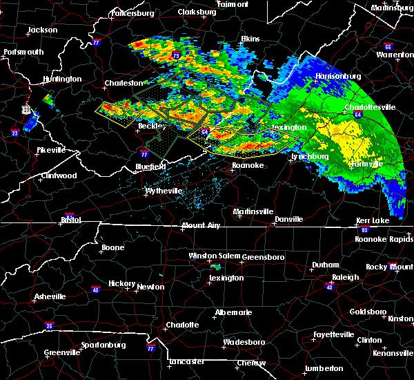 Radar Image for Severe Thunderstorms near Buchanan, VA at 6/23/2016 2:16 PM EDT