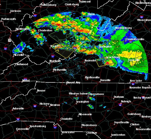Radar Image for Severe Thunderstorms near Charlotte Court House, VA at 6/23/2016 3:25 PM EDT