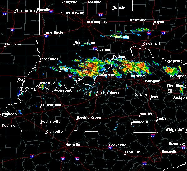 Radar Image for Severe Thunderstorms near Henryville, IN at 6/23/2016 4:07 PM EDT