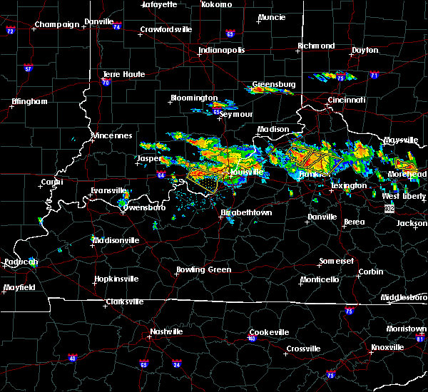 Radar Image for Severe Thunderstorms near Corinth, KY at 6/23/2016 4:33 PM EDT
