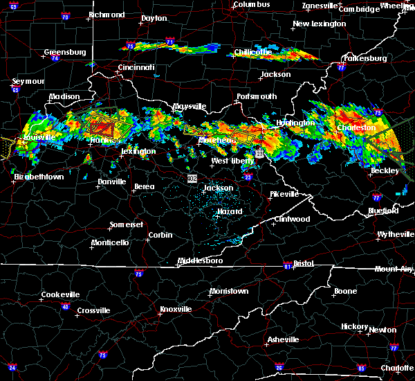 Radar Image for Severe Thunderstorms near Morehead, KY at 6/23/2016 4:46 PM EDT