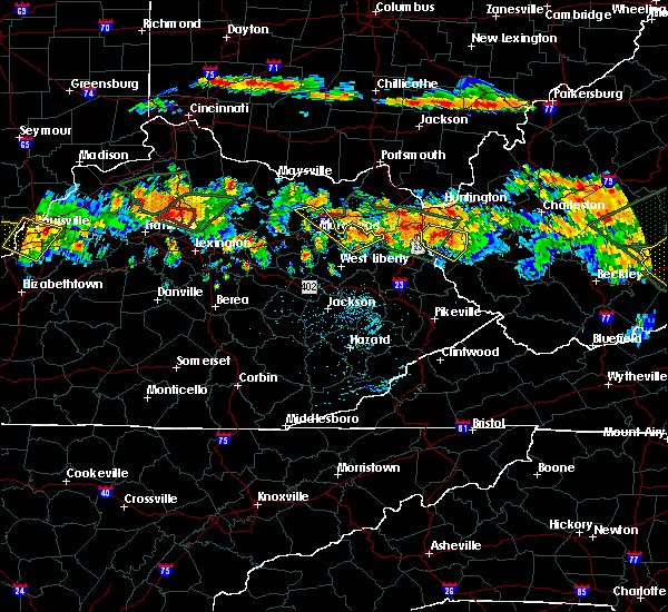 Radar Image for Severe Thunderstorms near Sandy Hook, KY at 6/23/2016 5:08 PM EDT
