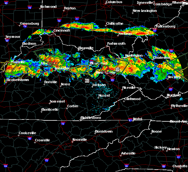 Radar Image for Severe Thunderstorms near Morehead, KY at 6/23/2016 5:26 PM EDT
