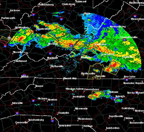 Radar Image for Severe Thunderstorms near Charlotte Court House, VA at 6/23/2016 5:36 PM EDT