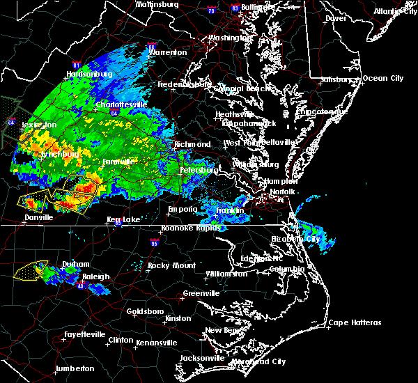 Radar Image for Severe Thunderstorms near Charlotte Court House, VA at 6/23/2016 5:51 PM EDT