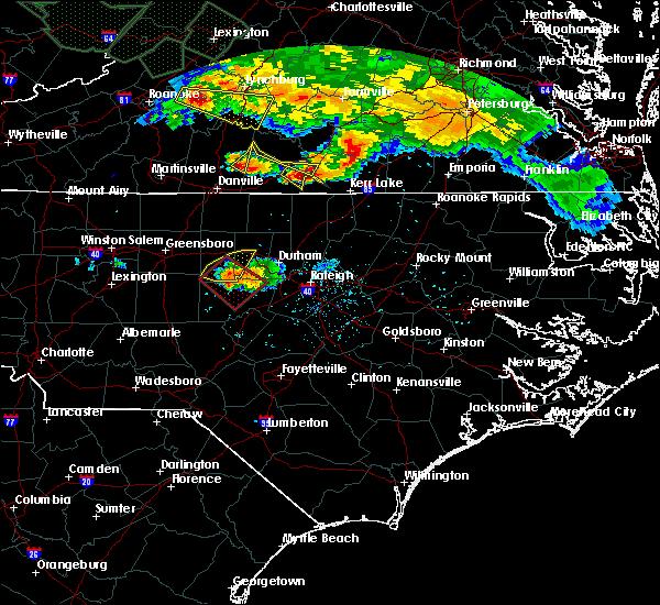 Radar Image for Severe Thunderstorms near Clarksville, VA at 6/23/2016 6:14 PM EDT