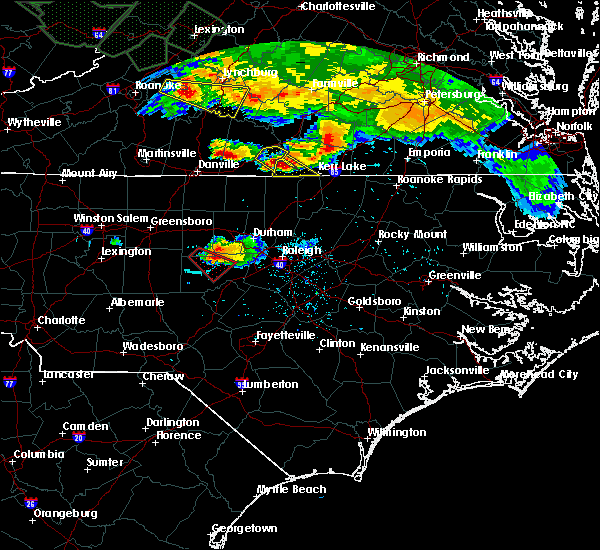 Radar Image for Severe Thunderstorms near Moncure, NC at 6/23/2016 6:22 PM EDT