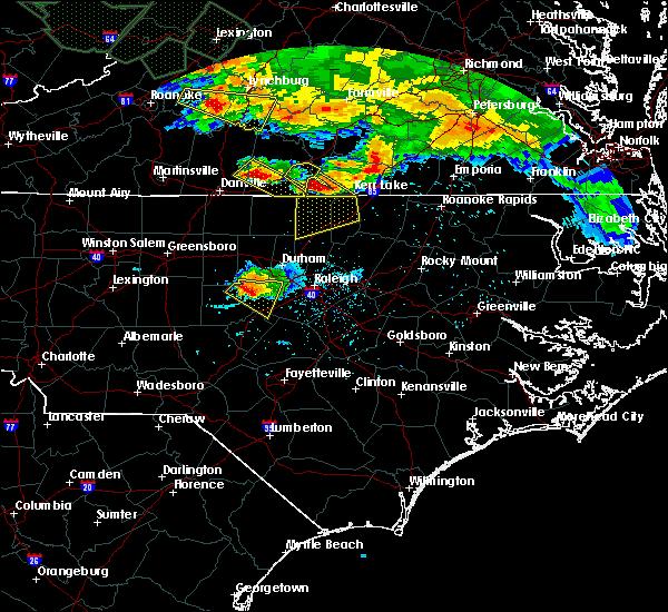 Radar Image for Severe Thunderstorms near Clarksville, VA at 6/23/2016 6:26 PM EDT