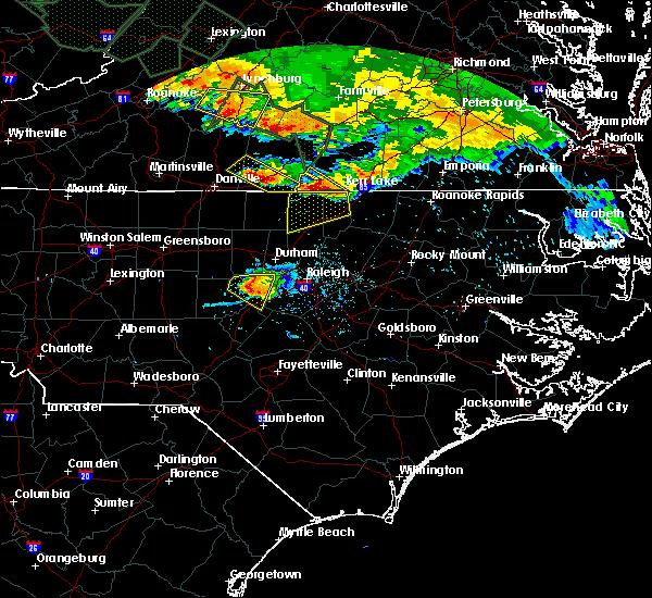 Radar Image for Severe Thunderstorms near Clarksville, VA at 6/23/2016 6:39 PM EDT