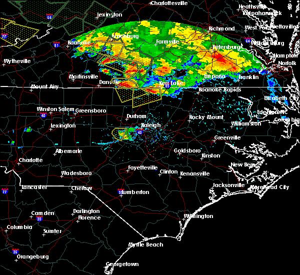 Radar Image for Severe Thunderstorms near Virgilina, VA at 6/23/2016 7:03 PM EDT