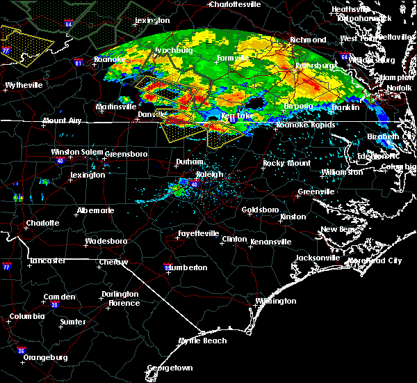 Radar Image for Severe Thunderstorms near Virgilina, VA at 6/23/2016 7:09 PM EDT