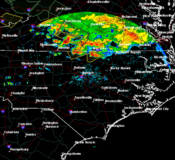 Radar Image for Severe Thunderstorms near Virgilina, VA at 6/23/2016 7:22 PM EDT