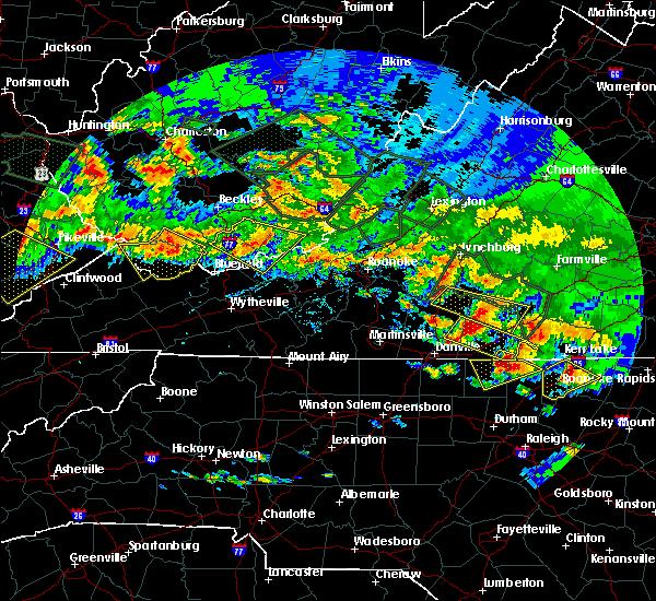Radar Image for Severe Thunderstorms near Glen Lyn, VA at 6/23/2016 7:27 PM EDT