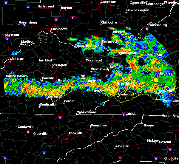 Radar Image for Severe Thunderstorms near Pikeville, KY at 6/23/2016 7:49 PM EDT