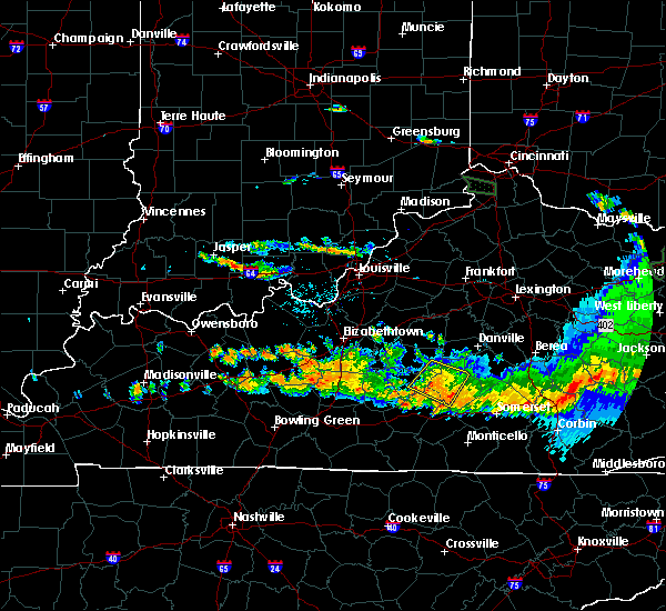 Radar Image for Severe Thunderstorms near Liberty, KY at 6/23/2016 7:58 PM EDT