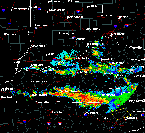 Radar Image for Severe Thunderstorms near Bardstown, KY at 6/23/2016 10:19 PM EDT