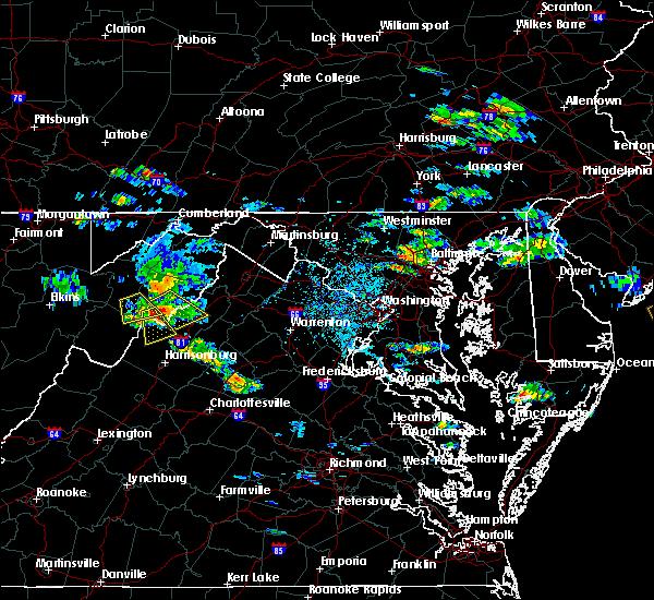 Radar Image for Severe Thunderstorms near Basye, VA at 6/24/2016 5:34 PM EDT