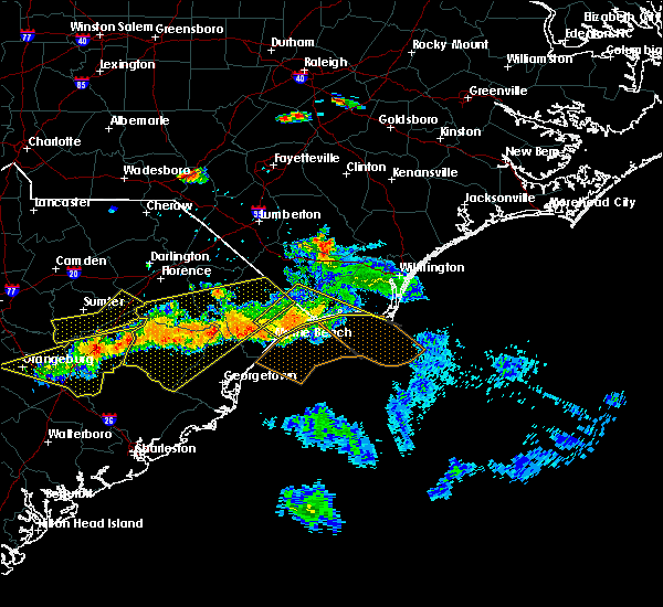Radar Image for Severe Thunderstorms near Myrtle Beach, SC at 6/24/2016 6:07 PM EDT