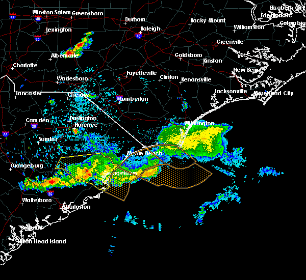 Radar Image for Severe Thunderstorms near Murrells Inlet, SC at 6/24/2016 7:17 PM EDT