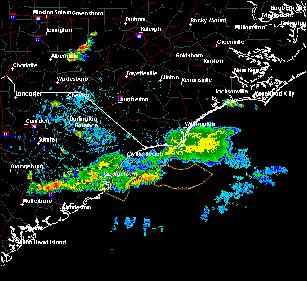 Radar Image for Severe Thunderstorms near Murrells Inlet, SC at 6/24/2016 7:29 PM EDT
