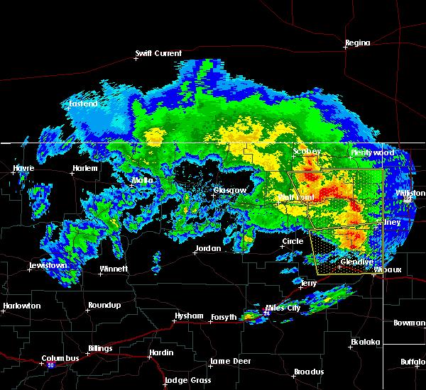 Radar Image for Severe Thunderstorms near Brockton, MT at 6/24/2016 8:22 PM MDT