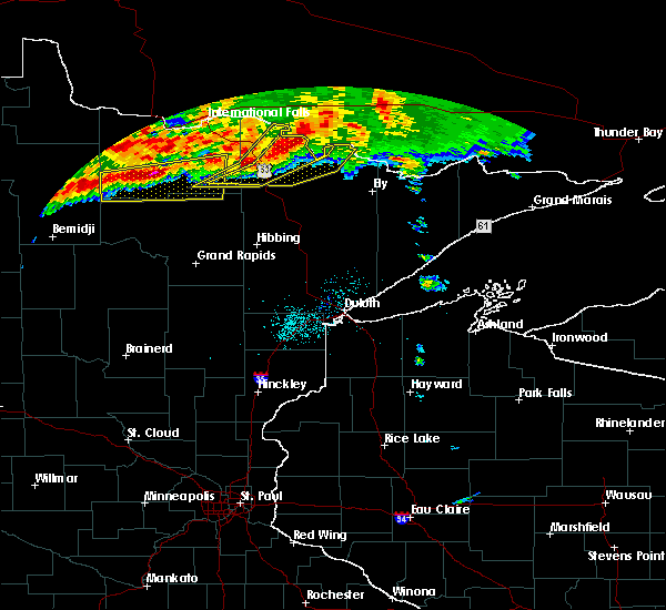 Radar Image for Severe Thunderstorms near Northome, MN at 6/25/2016 6:31 AM CDT