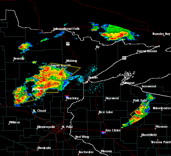 Radar Image for Severe Thunderstorms near Cohasset, MN at 6/25/2016 3:34 PM CDT