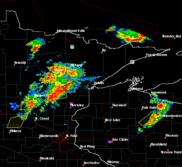 Radar Image for Severe Thunderstorms near Big Falls, MN at 6/25/2016 4:05 PM CDT