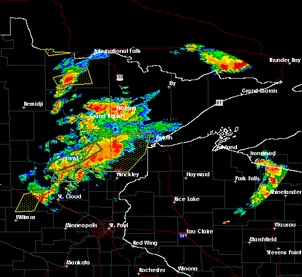 Radar Image for Severe Thunderstorms near Big Falls, MN at 6/25/2016 4:20 PM CDT
