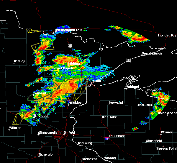 Radar Image for Severe Thunderstorms near Big Falls, MN at 6/25/2016 4:31 PM CDT