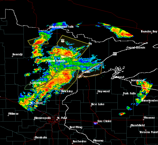 Radar Image for Severe Thunderstorms near Big Falls, MN at 6/25/2016 4:37 PM CDT