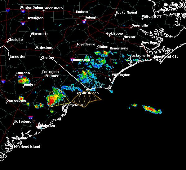 Radar Image for Severe Thunderstorms near Andrews, SC at 6/25/2016 5:45 PM EDT