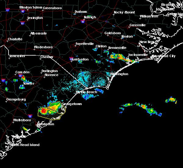 Radar Image for Severe Thunderstorms near Andrews, SC at 6/25/2016 6:23 PM EDT