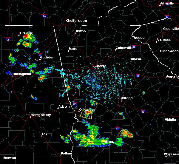 Radar Image for Severe Thunderstorms near Columbus, GA at 6/25/2016 6:32 PM EDT