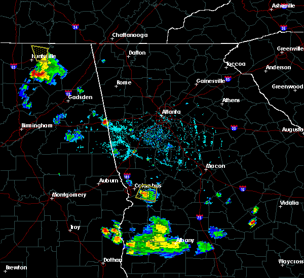 Radar Image for Severe Thunderstorms near Columbus, GA at 6/25/2016 7:12 PM EDT