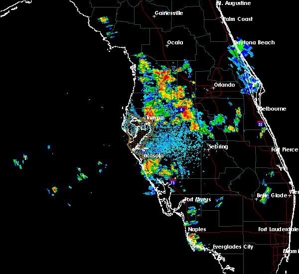 Radar Image for Severe Thunderstorms near Lakeland, FL at 6/26/2016 2:24 PM EDT