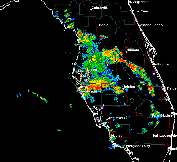 Radar Image for Severe Thunderstorms near Bayshore Gardens, FL at 6/26/2016 3:42 PM EDT