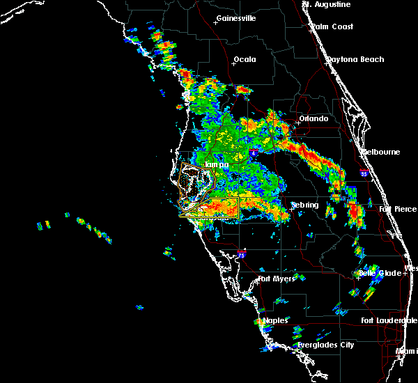 Radar Image for Severe Thunderstorms near Southeast Arcadia, FL at 6/26/2016 3:55 PM EDT
