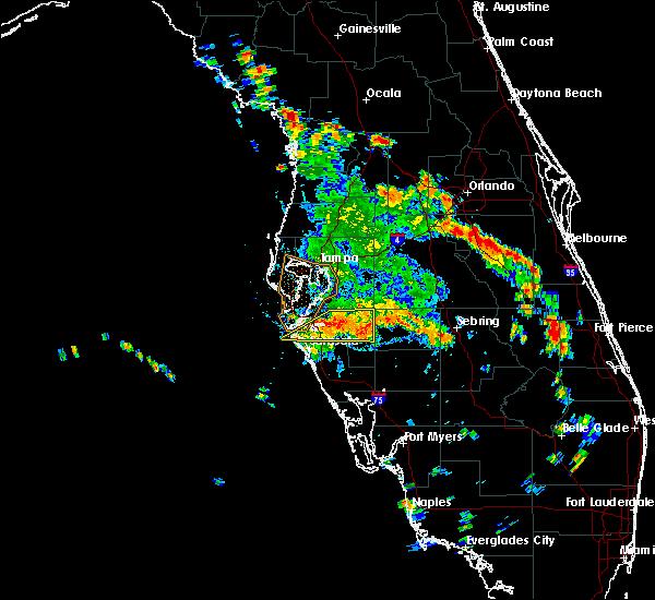 Radar Image for Severe Thunderstorms near Arcadia, FL at 6/26/2016 3:55 PM EDT
