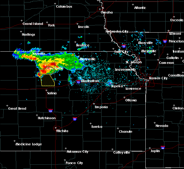 Radar Image for Severe Thunderstorms near Aurora, KS at 6/28/2016 3:45 AM CDT