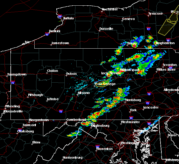 Radar Image for Severe Thunderstorms near Orrstown, PA at 6/28/2016 2:44 PM EDT
