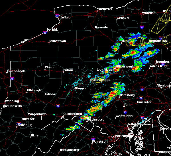 Radar Image for Severe Thunderstorms near Aaronsburg, PA at 6/28/2016 2:56 PM EDT